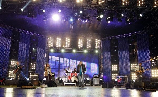 Cristi Minculescu și trupa LOTUS la Supervelionul 2013