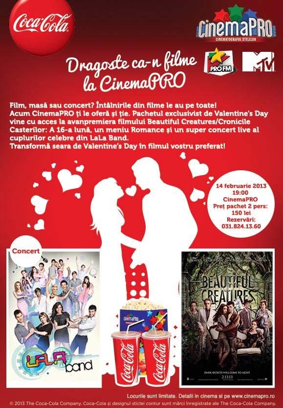 Poster Dragoste ca-n filme la CinemaPro pe 14 februarie 2013