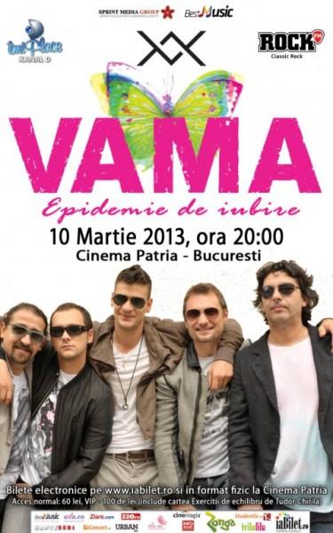 """Poster eveniment VAMA – \""""Epidemie de Iubire\"""""""