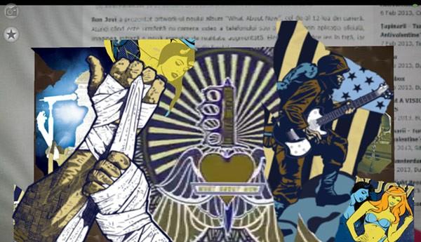 Cadru din animația de realitate augmentată deschisă cu noul artwork Bon Jovi
