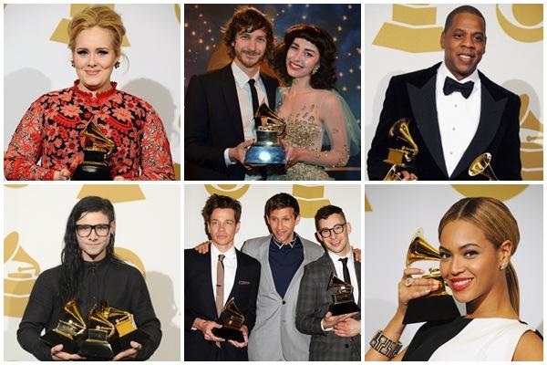 Adele, Gotye&Kimbra, Jay-Z, Skrillex, Fun., Beyonce