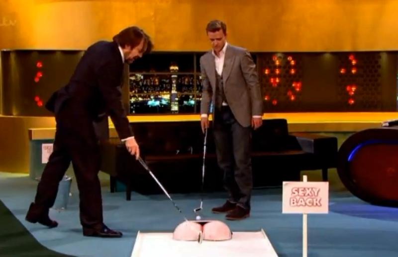 Jonathan Ross l-a provocat pe Justin Timberlake la un joc de mini golf în timpul emisiunii
