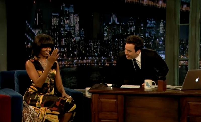 Michelle Obama la Late Night cu Jimmy Fallon