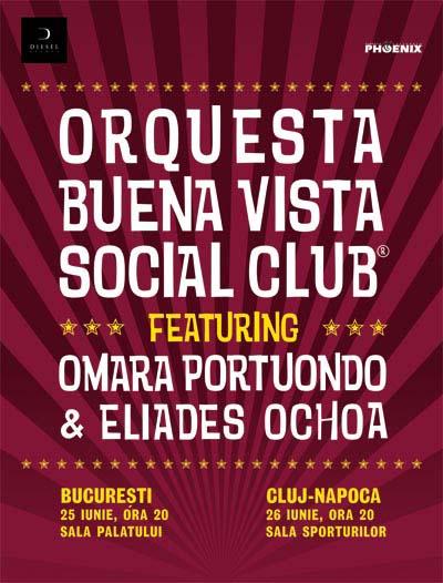 Buena Vista Social Club cu OMARA PORTUONDO & ELIADES OCHOA la Diesel Club