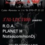 Poster concert ROA si Planet H în Euphoria Music Hall, Cluj Napoca pe 28 februarie 2013