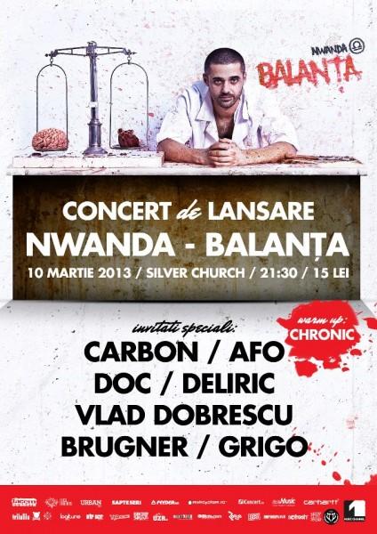 Poster concert Nwanda lansare album