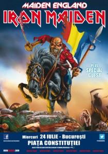 Posterul concertului Iron Maiden