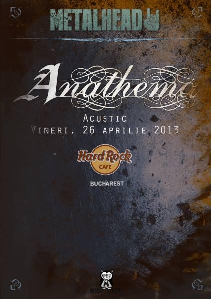 Posterul concertului acustic ANATHEMA din Hard Rock Cafe