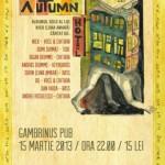 Poster Concert Nick Făgădar - Autumn Hotel la Gambrinus Pub din Cluj pe 15 martie 2013