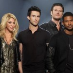 Shakira, Usher, Adam Levine și Blake Shelton