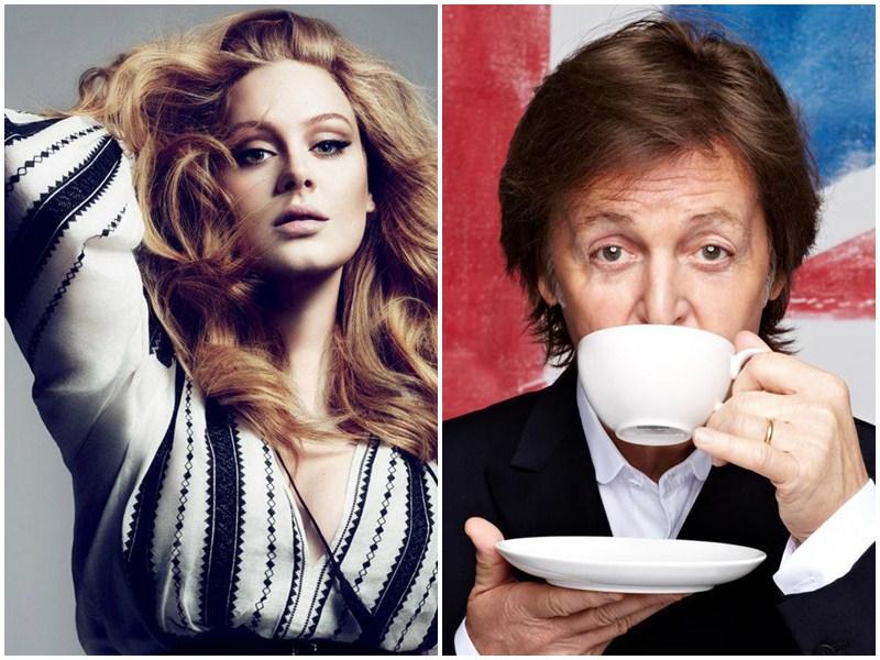 Adele și Paul McCartney, cei mai bogați artiști din UK