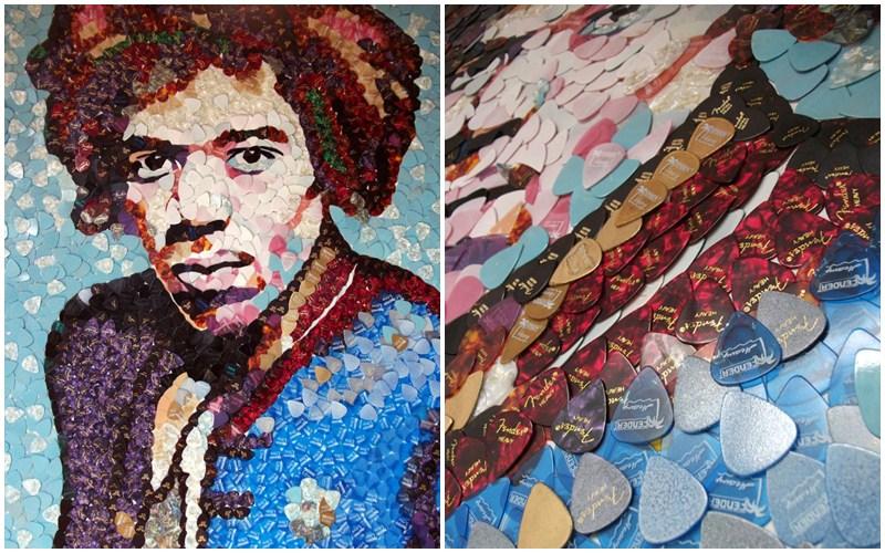 Portret Jimi Hendrix realizat de Ed Chapman