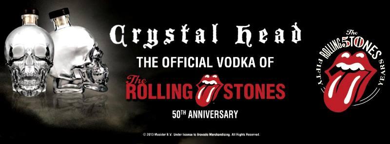 Rolling Stones Crystal Head Vodka