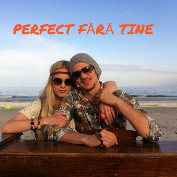 Tudor Chirila și Andreea Cohuț in timpul filmarilor pentru videoclipul Perfect fara tine