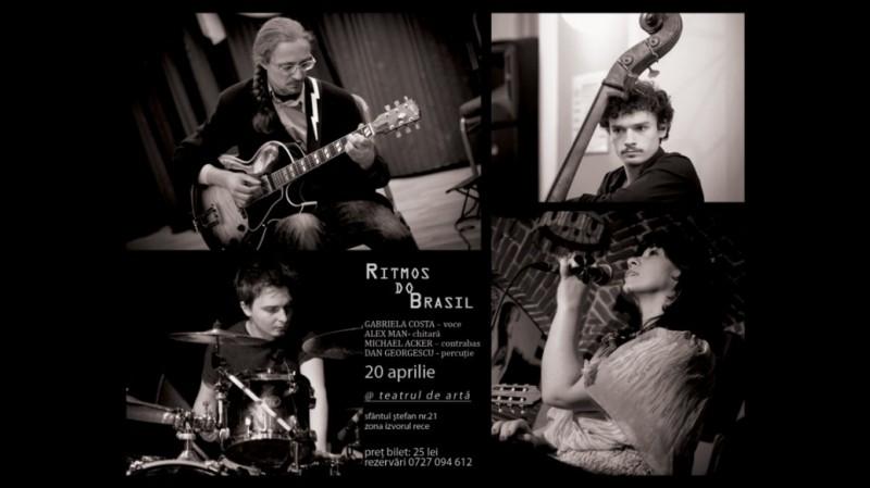 """""""Ritmos do Brasil"""" cu Gabriela Costa, Alex Man, Michael Acker și Dan Georgescu"""