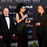Nicu Alifantis si Marius Bațu - Poze de la On Air Music Awards 2013