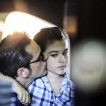 Ștefan Bănică alături de fiul său pe platoul de filmări