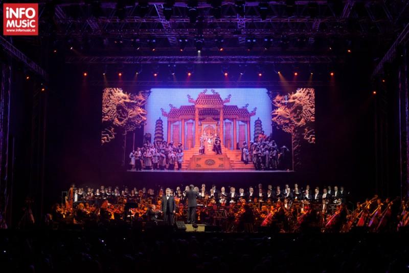 O scenă uriașă a fost construită pentru Andrea Bocelli și Orchestra Radio la Romexpo
