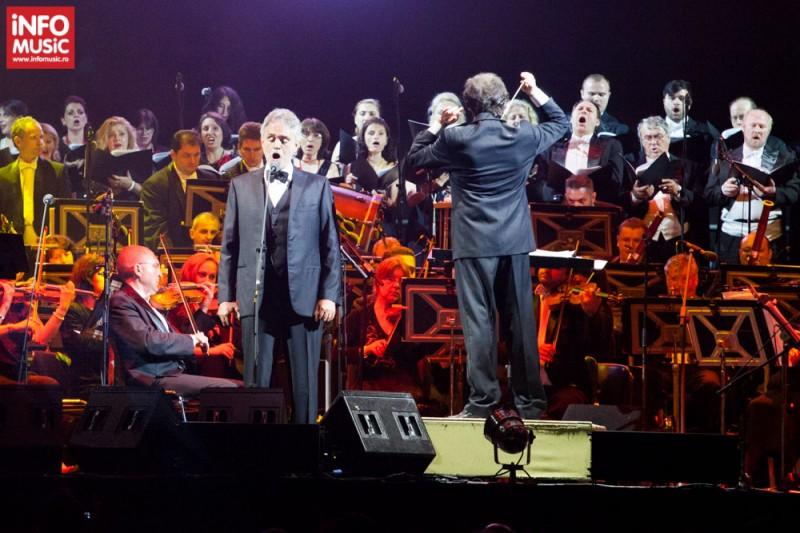Andrea Bocelli în concert la Bucuresti pe 25 mai 2013
