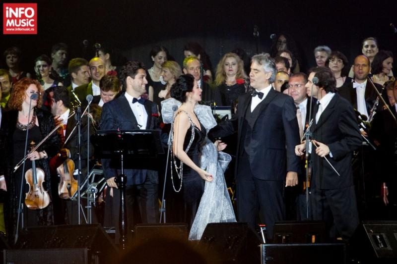 Angela Gheorghiu și Cezar Ouatu, invitații lui Andrea Bocelli în primul său concert de la București