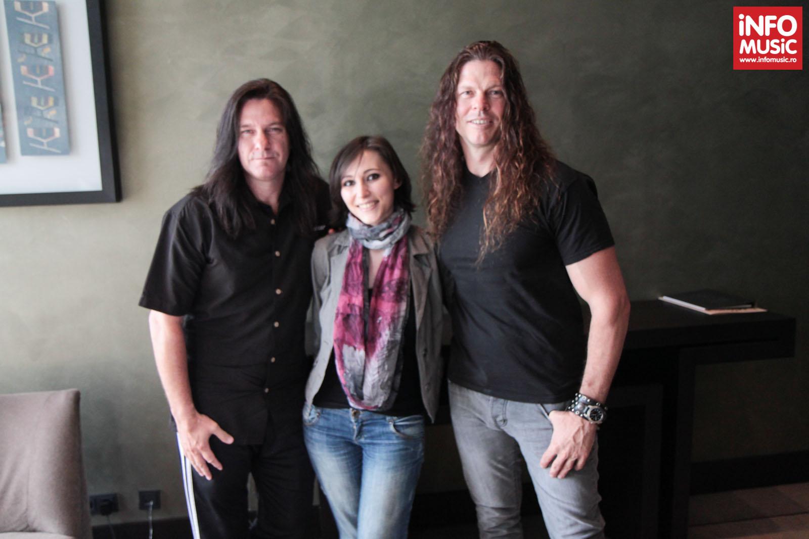 Shawn Drover și Chris Broderick (MEGADETH) intervievați de Alexandra Necula (InfoMusic.ro)