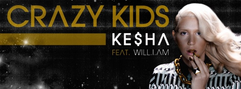 "Kesha - ""Crazy Kids"" Will.i.am single cover"