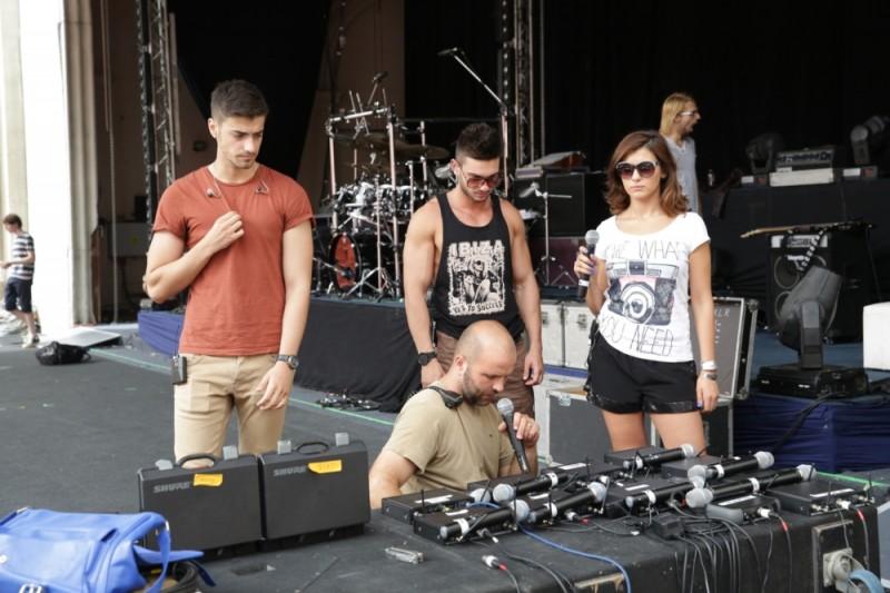 Lala Band la repetitii pentru concertul de pe 1 iunie 2013 de la Arenele Romane