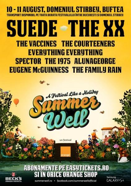 Poster Festival Summer Well 2013 , 10 - 11 august, Domeniul Știrbey, Buftea