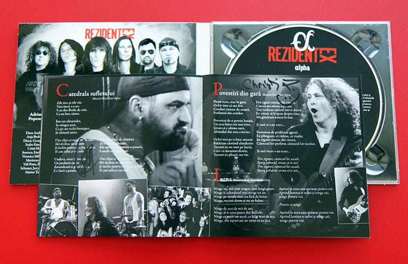 Albumul Appha (Rezident Ex) cu autografele lui Florin Cvasa și Christian Podratzky