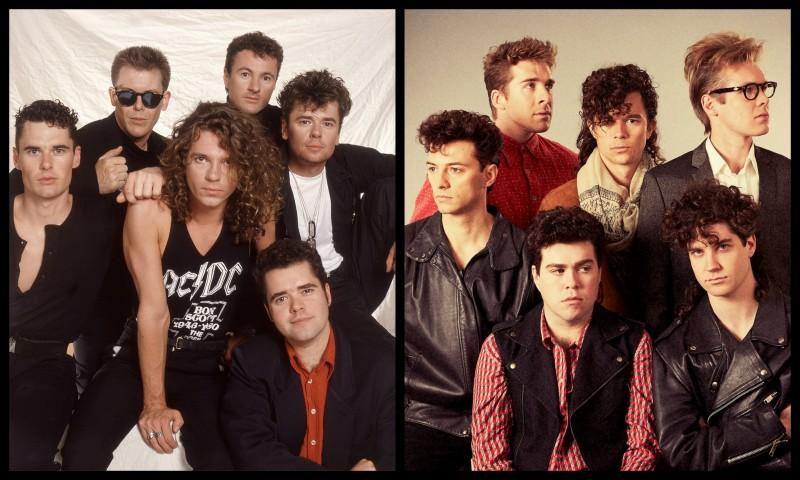INXS ( În stânga formula originală, iar în dreapta actorii din serial care vor intepreta rolurile celor şase membrii)