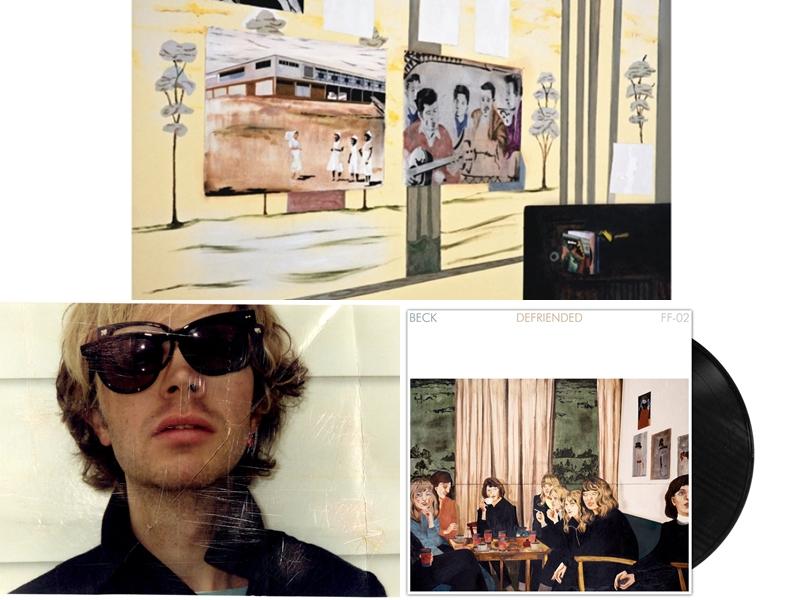 """""""I Won't Be Long"""" (vinil artwork) / Beck / """"Defriended"""" (vinil artwork)"""