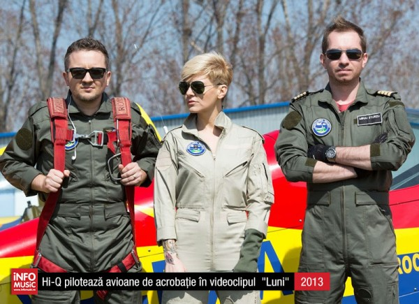 "Hi-Q în fotografii - trupa a pilotat avioane pentru clipul ""Luni"" (2013)"