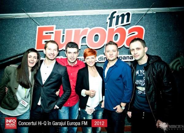 Hi-Q în fotografii - concert în Garajul Europa FM (2012)