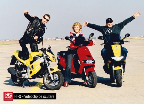 """Hi-Q în fotografii - videoclip pe scutere - """"Tu ești dragostea mea"""" (2002)"""