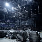Montarea scenei Rammstein pentru concertul de la Ljubljana 2013