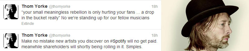 Extrase din mesajele lui Thom Yorke pe Twitter