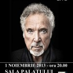 Afisul concertului TOM JONES la Sala Palatului pe 1 noiembrie 2013