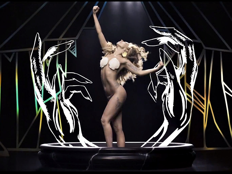 Secvență clip Lady Gaga -