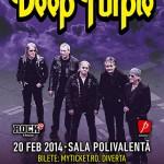 Afisul concertului Deep Purple - Sala Polivalenta - Bucuresti - 20 februarie 2014