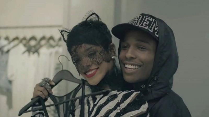 ASAP Rocky și Rihanna în clipul