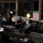 Trupa Elbow în studioul de înregistrări