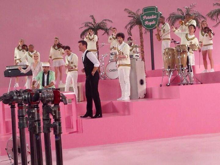 Jessie J și Robin Thicke pe platourile de filmare ale clipului