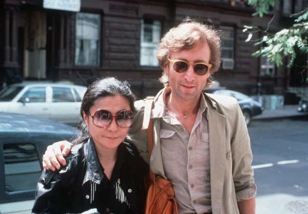 Yoko Ono și John Lennon (22 august 1980, New York)