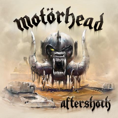 """Motorhead - """"Aftershock"""" album cover"""
