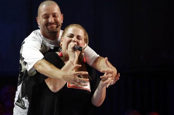 Cheloo și Oana Munteanu la X Factor Romania 2013