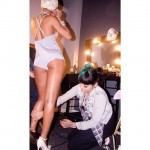"Rihanna la filmarea videoclipului ""Pour It Up"""