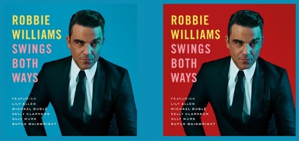 "Robbie Williams artwork ""Swing Bot Ways"" Standard & Deluxe"