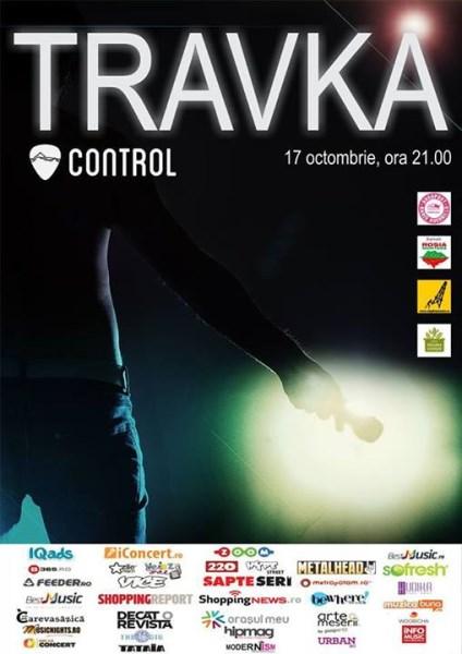 Afisul concertul TRAVKA din Control pe 17 octombrie 2013