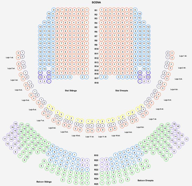 Diagrama salii - Opera Nationala Romana Iasi