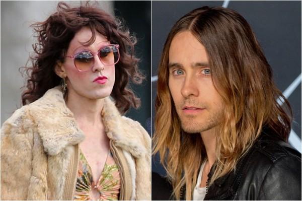 Jared Leto în rolul unui transsexual / Jared Leto în viața reală